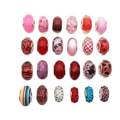 Chytaii Juego de 30 cuentas de cristal para manualidades, regalo para adolescentes y niñas, kit para hacer joyas, pendientes, pulseras y collares
