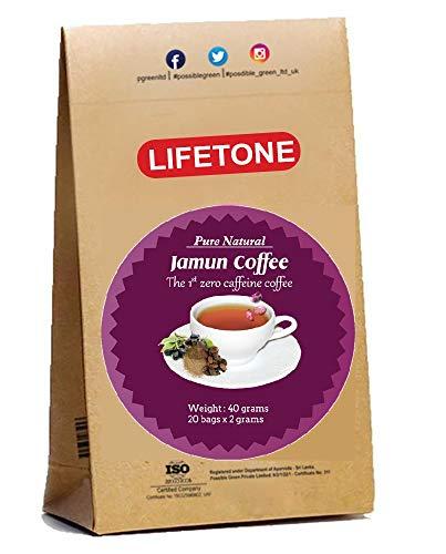 Koffeinfreier Kaffee Alternative Mischung aus Jamun Samen | Natürliches Decaf | Entgiftungskaffee | 20 Beutel