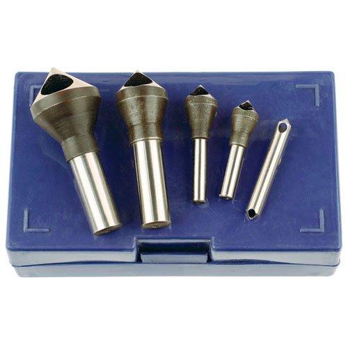 TTC C84 5 Pc #0 -#4 90° Zero Flute Countersink & Deburring Tool Set