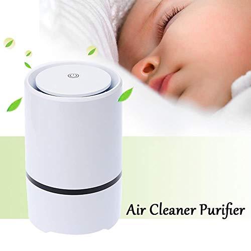 Dytxe-shelf Ionisatie-luchtreiniger, ionisator, actieve koolfilter en koelkatalysator, multi-filter, stille slaapmodus voor mensen met een allergie, rokers