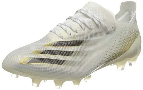 adidas Chaussures de Football pour Homme X Ghosted.1 AG - - Ftwwht Cblack Metgol, 44 EU