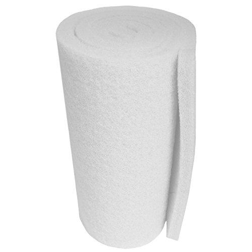 Aquatic Experts USA Classic Koi-Teich-Filterpad, fein, 45,7 x 183,9 x 1,9 cm bis 2,5 cm, Weiß, Rolle