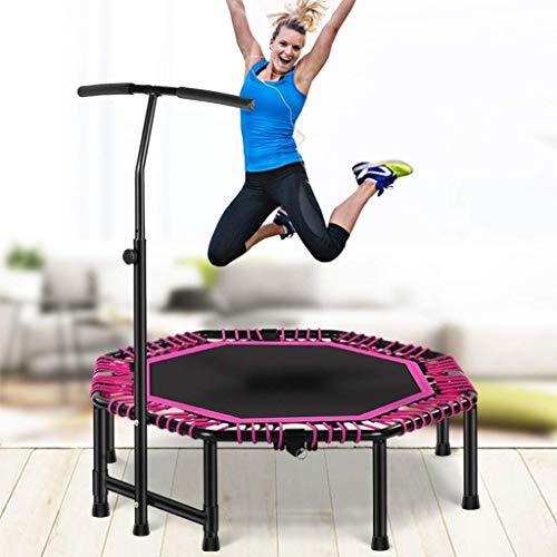 TBTBGXQ Trampoline Indoor Fitness Trampolin 121,9 cm Rebounder Übung faltbar mit verstellbarem Griff für Kinder Erwachsene Zuhause Gym Jumping Bungee Bounce Trampette Workout maximale Belastung 400 kg