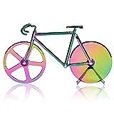 BESYLO Pizza con Forma de Bicicleta, Cortador de Pizza con Forma de Bicicleta con Soporte, Ruedas de Corte de Acero Inoxidable, Cortador de Pizza y Masa, para Utensilios de Cocina