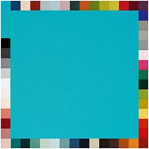 Tela para puños, por metros, 95% algodón, 5% elastano, más de 50 colores a elegir (231 I turquesa, longitud: 2,0 m)