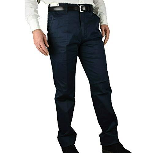 Pantalone Uomo Invernale Imbottito in Pile Elegante Classico Caldo Foderato 46-60 a Tasca America Vita Alta Nero (50 - Nero)