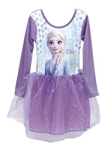 Disney, Frozen 2, Mädchen Langarm Kleid, Spaß 3D Ballett Tutu Tüll Rock, Kinder Geburtstagsfeier Kostüm Lässig Prinzessin Ballerina Kleid mit ELSA, 8 Jahre