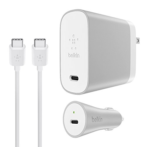 Belkin USB-C Home + Car Charge Kit (USB Type-C) - 6-Foot Kit w/ 45W USB-C Home Charger, 27W USB-C Car Charger
