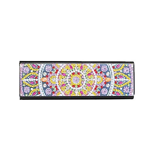 Caja de almacenamiento para gafas de sol, pintura de diamantes, de piel, caja de viaje, vintage, 16 x 5,4 x 3,6 cm, Pascua