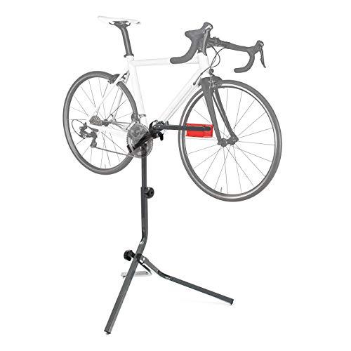 WilTec Pied d'Atelier pour vélo Support Trépied Réparation Entretien Acier Hauteur Ajustable...