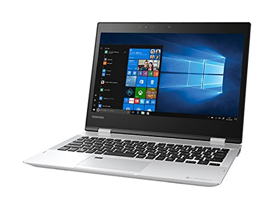 あご腐敗後退する東芝 12.5型 2-in-1 パソコン dynabook V62 プレシャスシルバーdynabook 2018年 春モデル(Core i3/メモリ4GB/SSD256GB/Office H&B) PV62FSP-NEA