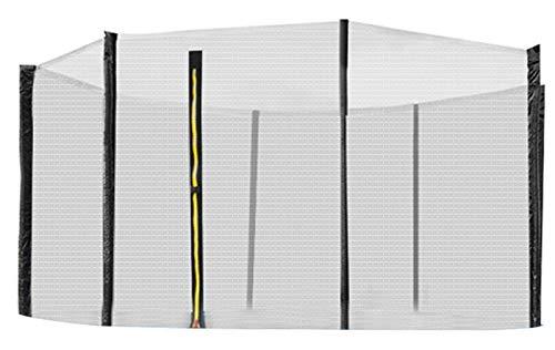 MALATEC Sicherheitsnetz für Trampoline Fangnetz Ersatznetz Außennetz 183cm - 427 cm 2220, Größe:404 cm/ 8 Stangen