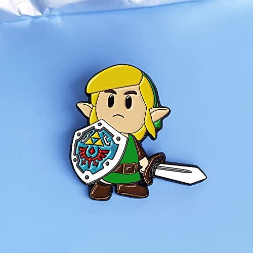 Zelda Die Legende von Zeldas Emaille Pin Cartoon Schild Krieger Link Brosche Action Adventure Game Fans sammeln Abzeichen Mode Geschenk