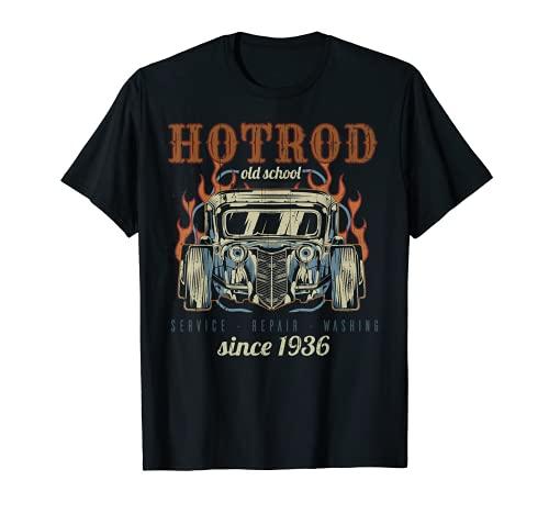 Vintage Hot Rod Old School Vintage Camiseta