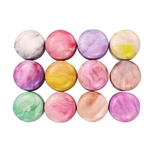 Healifty 12 leere Mini-Dosen aus Metall, rund, Blechdose, Vintage-Stil, für Süßigkeiten-Teelichter, für Hochzeit, Party, Weihnachten, Geschenke (Macarons)