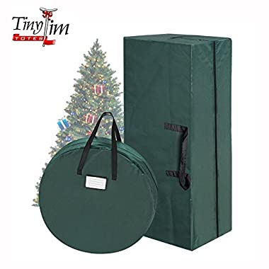 Tiny Tim Totes 83-DT5571 5708 Combo | Christmas Tree Storage 30 in Wreath Bag | Green