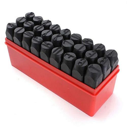 Vogueing Tool Zahlenstanzer-Set aus Metall mit Etui für Lederarbeiten und Holzmaterialien (4 mm, 27 Stück)