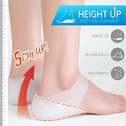 Juting Concealed Footbed Enhancers, Invisible Height Increase Insole, Soft Silicone Heel Lift Insoles for Men and Women (Men,3.5cm)