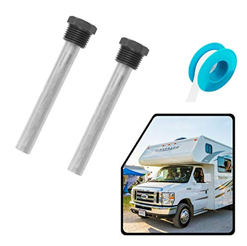 """RV Water Heater Aluminum/Zinc Anode Rod for Atwood Heaters, Eau 2 Pack 1/2"""" NPT RV Hot Water Tank Anode Rod for RV, Camper and Trailer Water Heaters -  4.5 Inch Kit"""
