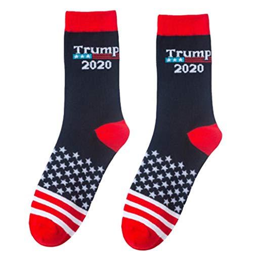 Aisoway 1 Paar Trump Socken Unisex Neuheit Crew Socken Make America Great Again 2020 Socken