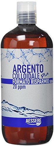 Aessere Argento Colloidale Plus Formato Risparmio, 500 ml