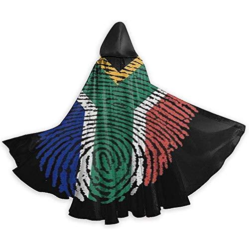 KDU Fashion Strega mantel vlag Zuid-Afrikaanse vlag digitale mantel met capuchon Strega mantel voor meisjes en jongens 40 x 150 cm