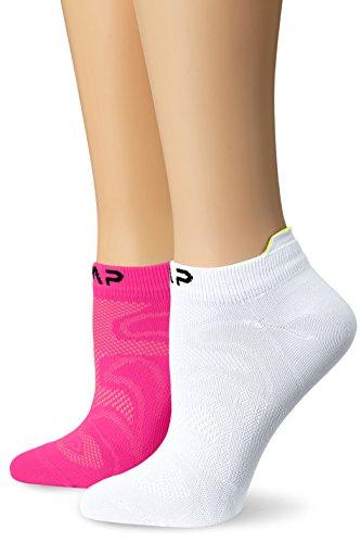 CMP Ultralight PA Bipack Socken, Bianco-Pink Fluo, 39/42