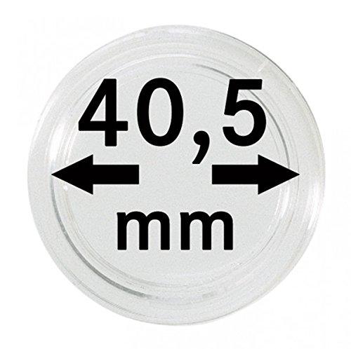 LINDNER Das Original Capsules Monnaies Ø intérieur 40,5 mm, Paquet de 10