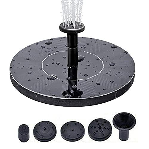 Bomba de fuente solar con 24 luces LED 3.5W Bomba de función de agua solar con bomba de batería de 2000mAh Bomba de fuente flotante solar para baño de pájaro Piscina de patio y jardín Carrito