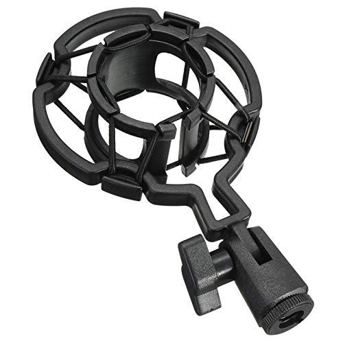 linqingshiduodeshangmaoyouxiangongsi ist Präfekt für Streaming/Podcasting/Gaming Universal schwarzer Kunststoffstudio-Mikrofon-Stoßmontage des Desktop-Halters für Kondensatormikrofon