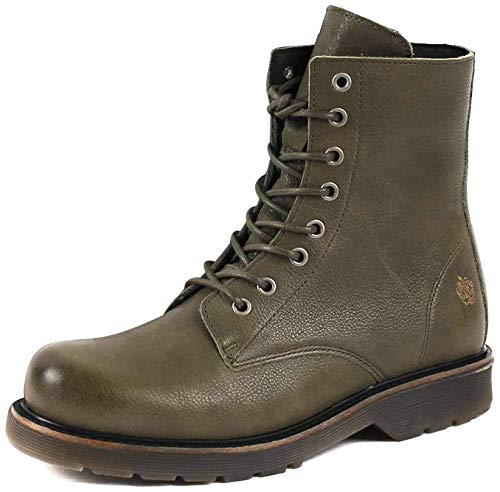 Apple of Eden Sun Combat Biker Boot Damen Stiefelette - Sun 37 dk.Green, 40 EU