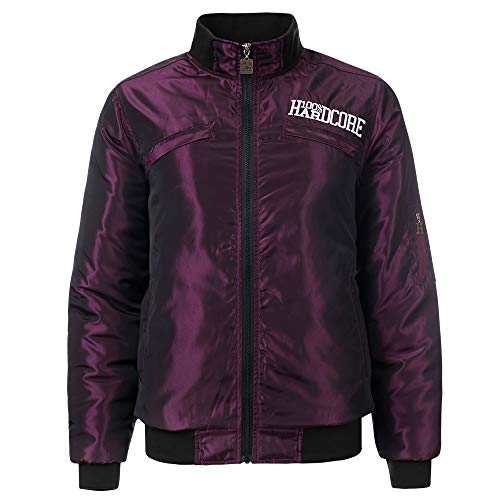 100% Hardcore Damen Bomberjacke Raw, Bordeaux Ladies Hardcore Gabbergirl Jacket (M)