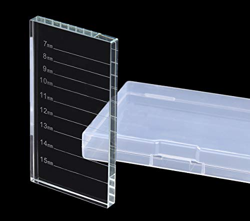 Eyelash Extension Crystal Pallet Lash Holder Tray Bigger Size with Storage Case 4.3x2.4 Inch,7-15 mm