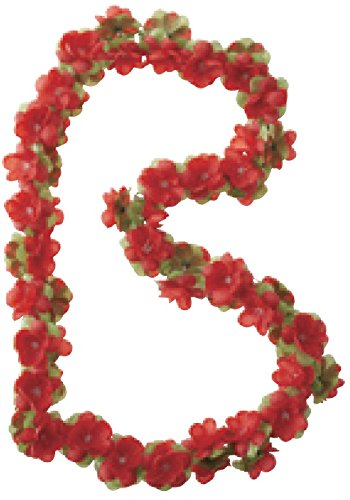 Basil Blumengirlande Flower Garland Girlande, Red, One Size