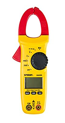 Sperry Instruments DSA200AOC Open Jaw Clamp Meter 27 Range 9 Function 200A 600V AC/DC, Yellow