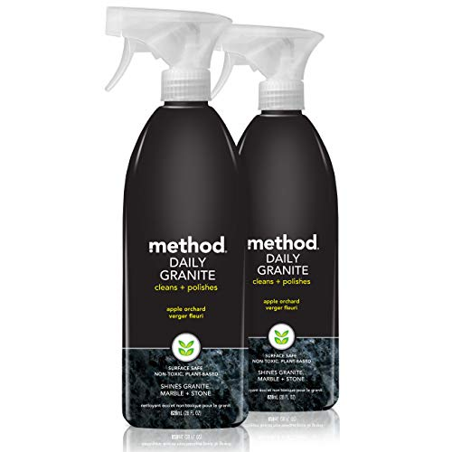 Method Daily Granite Cleaner Spray, Apple Orchard, 28 Ounce (2 pack)