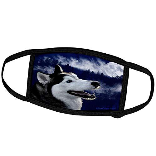 Promini - Masque mensuel Edmond Hogge Jr Alaska - Yeux bleus Alaskan Husky - Masque de protection extérieur