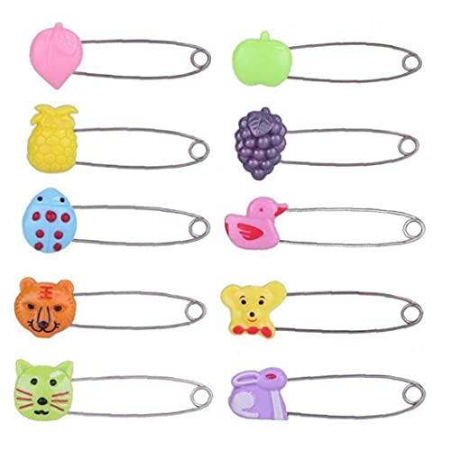 Ruluti 4pcs Plastic Head-sicherheitsnadel-Kind-Kind-Tuch-windel-Locking Buckles Babypflege Dusche Windel-Clips Brosche Halter