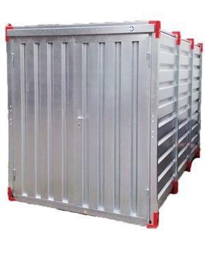 #Baucontainer Garage Container Lagercontainer Gerätecontainer Werkstatt Container Materialcontainer Blechcontainer 2,25 m Außenmaße Länge x Breite x Höhe: 2250 x 2200 x 2200 mm#