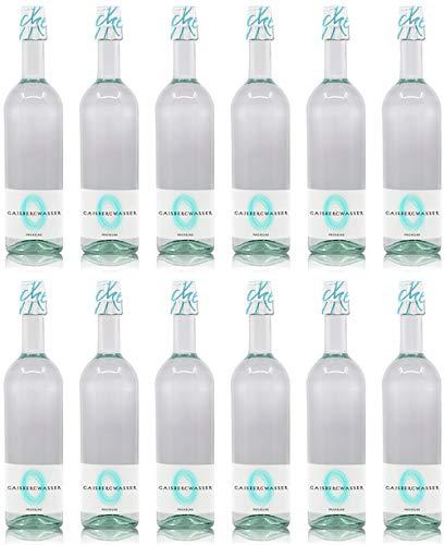 Gaisbergwasser - natürliches Quellwasser aus Salzburg, Recycling-Glasflasche Einweg (Prickelnd 12 x 0,75 l)