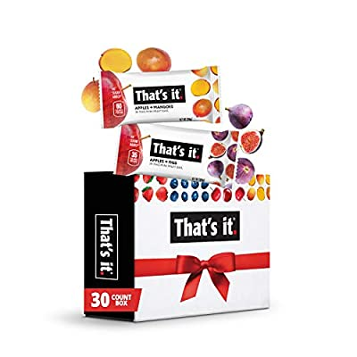 That's it. Mini - Variety Pack 100% Natural Fruit Bar, High Fiber Vegan, Gluten Free Healthy Snack, Paleo for Children, Adults, Non GMO Sugar-Free, No Preservatives