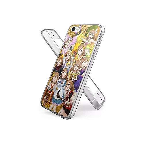 CHblINsUo Conciliable con iPhone 5S Funda, iPhone SE Funda, de Silicona Suave a Prueba de Golpes Transparente TPU Protector de diseño de la Funda para iPhone 5S / iPhone SE (2016) #UoA002