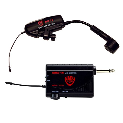 Nady UHF Wireless System for Horn and Woodwind Instruments with MRX-16 Receiver and MH-16 Transmitter (MicroMHT-16X)