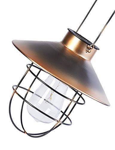 ソーラー 照明 ガーデン 庭園 赤銅 屋外吊り 防水 自動点灯 暖かい色 中空ランタン