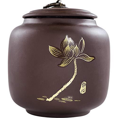 Tetera púrpura Tetera Creativa Kung Fu depósito de té Accesorios para Ceremonia del té Sello a Prueba de Humedad Pu'er Tetera Plateada Zen Jing + Plata Tetera Qingfeng 2 Pack (Precio de la Actividad)