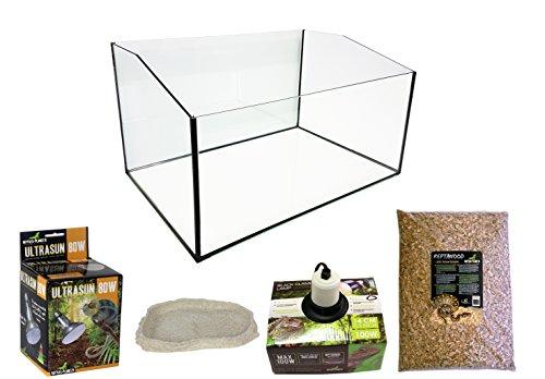 Reptiles Planet Eco Kit Terrarium mit Becken geöffnet für Schildkröte terrestrisch 60x 40x 28cm