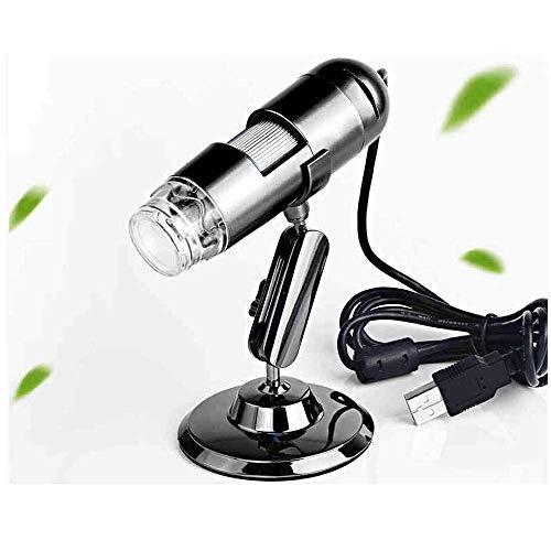 Yongenee Vidrio con luz 20-200XUSB HD Digital Microscopio Electrónico de electrónica de vidrio de reparación de la piel Antigüedades identificación 2X 4X 25x ligero portátil de cristal Adecuado para e