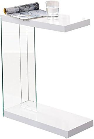 Best Steve Silver Elaina Chairside End Table in White