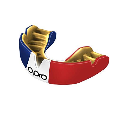 Opro Power-Fit   Protège-Dents Fait Main Adulte   Bouclier de Gomme pour Le Rugby, Le Hockey, MMA (10 Ans et Plus) (France)