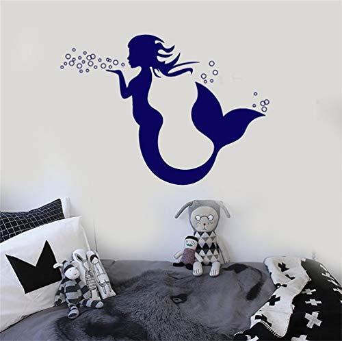 stickers muraux bebe juju et compagnie Mermaid Marine Nursery Chambre d'enfants